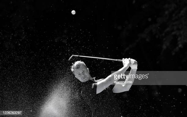 Oliver Fisher English European Tour professional golfer plays a practice round at Centurion Club on May 21 2020 in St Albans England The British...