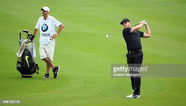 Oliver Fisher of England in action during the second round of the BMW Masters at Lake Malaren Golf Club on October 31 2014 in Shanghai China
