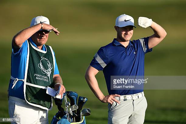 Oliver Fisher of England looks on during day one of the Portugal Masters at Victoria Clube de Golfe on October 20 2016 in Vilamoura Portugal