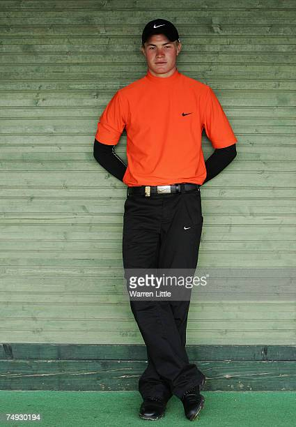 Oliver Fisher of England poses for a portrait during the proam of The Open de France presented by Alstom at the Golf National Golf Club on June 27...