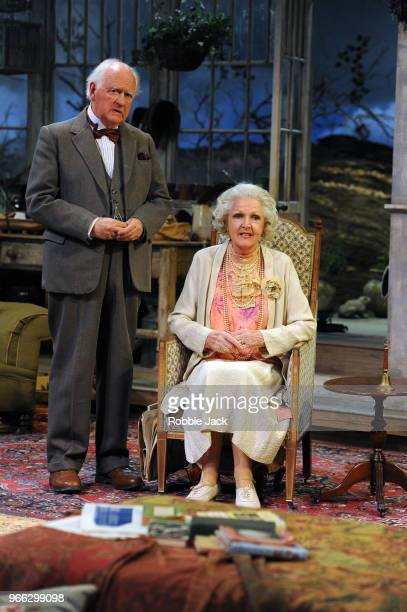 Oliver Ford Davies as the Judge and Penelope Keith as Mrs St Maugham in Enid Bagnold's The Chalk Garden directed by Alan Strachan at Chichester...