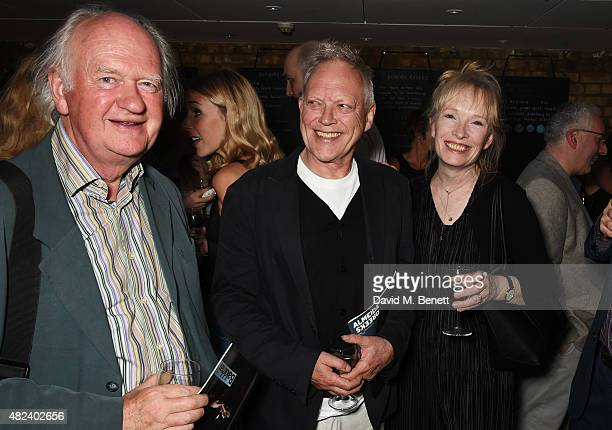Oliver Ford Davies Hilton McCrae and Lindsay Duncan attend an after party following the press night performance of 'Bakkhai' at The Almeida Theatre...