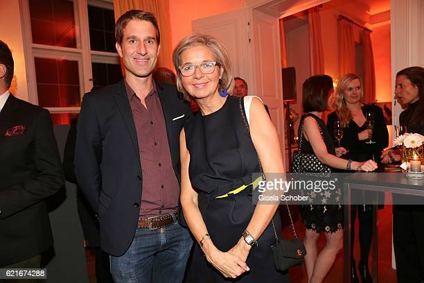 Oliver Fritz and Inga GrieseSchwenkow during the birthday party for the 10th anniversary of ICON at Nymphenburg Palais No 6 on November 7 2016 in...