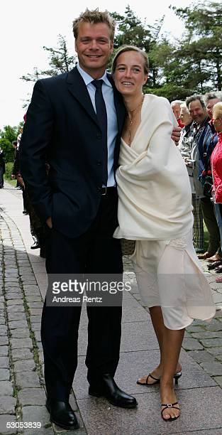 Oliver Geisen TVModerator and his wife Ulrike poses at the Sankt Severin church on June 11 2005 at Sylt in Germany Michael Stich and Alexandra...