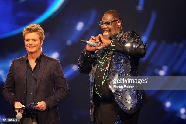 Oliver Geissen and Alphonso Williams during the fourth event show and semi finals of the tv competition 'Deutschland sucht den Superstar' at Coloneum...