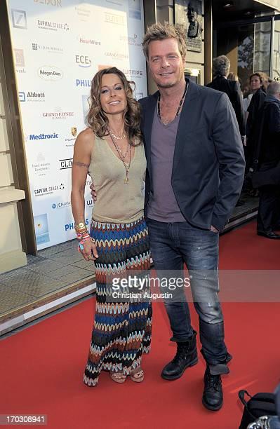 Oliver Geissen and Christina Plate attend charity event Das kleine Herz im Zentrum at St Pauli Theater on June 10 2013 in Hamburg Germany