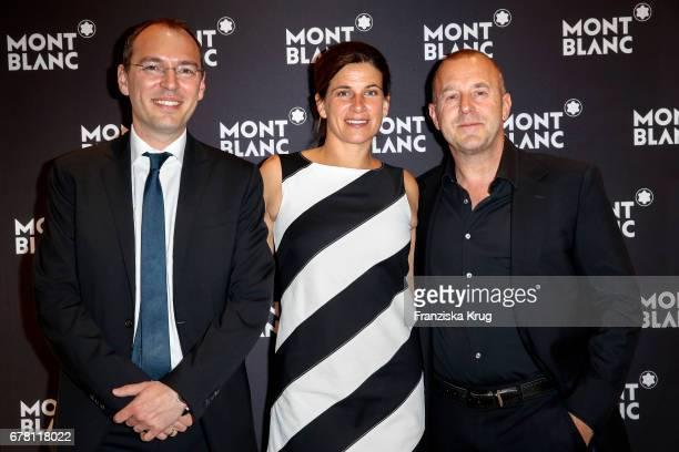 Oliver Goessler ´ MarieJeanette Ferch and Heino Ferch attend the Montblanc spring party on May 3 2017 in Munich Germany