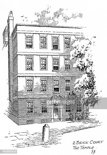 Oliver Goldsmith's house 2 Brick Court Temple London 1912 Irishborn British playwright dramatist poet and novelist Goldsmith is best remembered for...