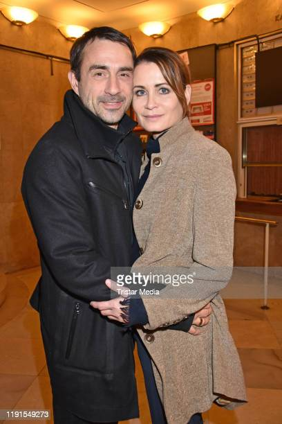 "Oliver Haas, Anja Kling during the ""Skylight' theater premiere at Schiller Theater on December 1, 2019 in Berlin, Germany."