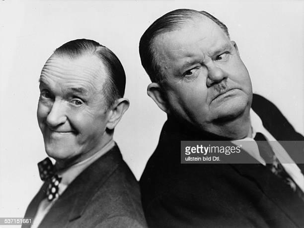 Oliver HardyOliver HardyStan LaurelStan Laurel Schauspieler USA mit seinem Partner Oliver Hardy alias 'Dick Doof'