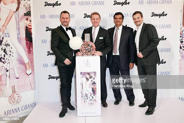 Oliver Hedfeld of Douglas Thomas Eichhorn of Douglas Dilesh Mehta CEO of Designer Parfums and Michael Betzelt CEO of E A Cosmetics attend the...