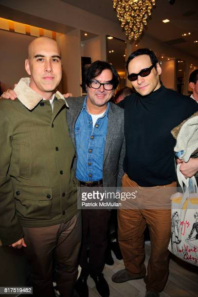 Oliver Helden Billy Reid and Moss Lipow attend Ann Taylor Flatiron Store Opening at Ann Taylor NYC on December 2 2010 in New York City