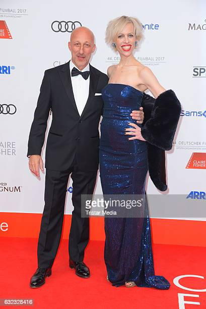 Oliver Hirschbiegel and Katja Eichinger attend the German Film Ball 2017 at Hotel Bayerischer Hof on January 21 2017 in Munich Germany