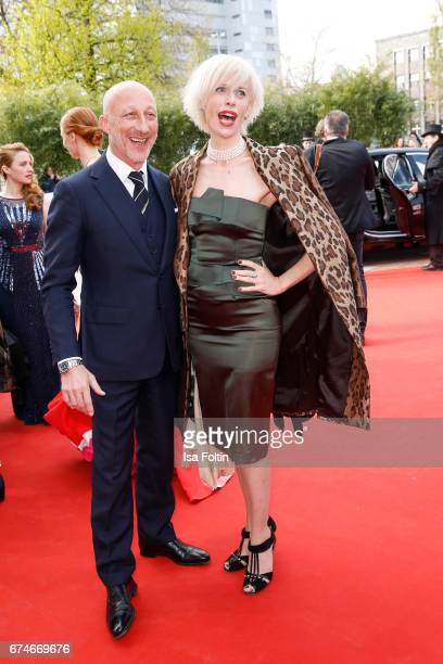 Oliver Hirschbiegel and Katja Eichinger during the Lola German Film Award red carpet arrivals at Messe Berlin on April 28 2017 in Berlin Germany