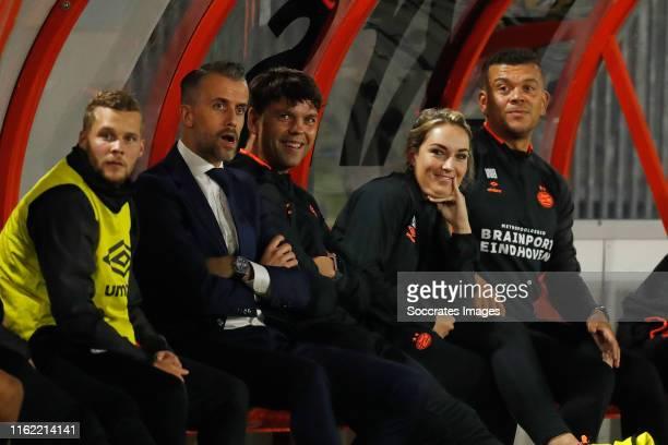 Oliver Horvath of PSV U23, Roel Engelen of PSV U23, Toine Leijnse of PSV U23, Suzanne Huurman of PSV U23, Wilfred Bouma of PSV U23 during the Dutch...