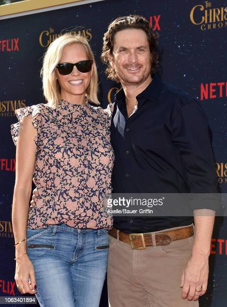 Oliver Hudson and Erinn Bartlett attend the premiere of Netflix's 'The Christmas Chronicles' at Fox Bruin Theater on November 18 2018 in Los Angeles...
