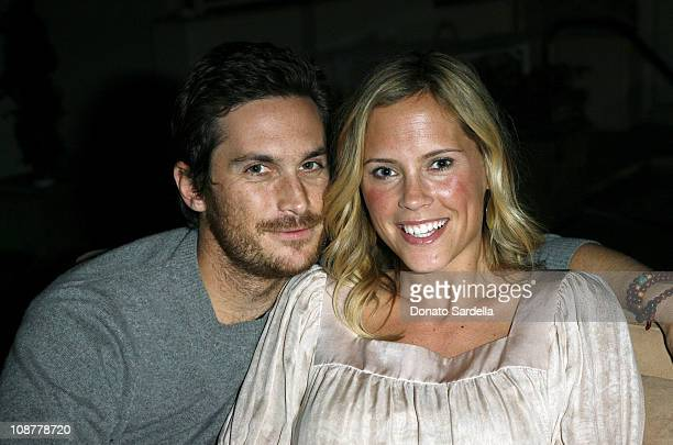 Oliver Hudson and Erinn Bartlett during Georg Jensen Cave Dinner at Sunset Tower Hotel in West Hollywood CA United States
