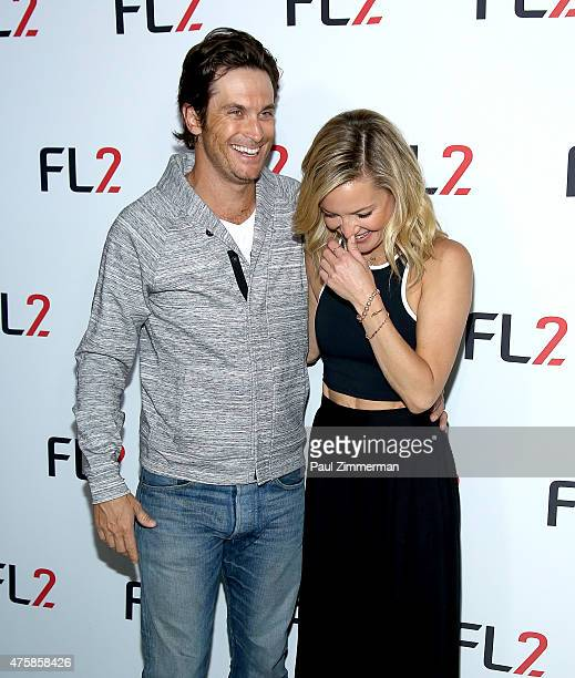 Oliver Hudson and FABLETICS CoFounder Kate Hudson attends FL2 Launch at Gramercy Terrace at The Gramercy Park Hotel on June 4 2015 in New York City