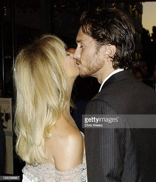 Oliver Hudson and Goldie Hawn during Hollywood Awards Gala Ceremony Red Carpet Arrivals at The Beverly Hilton in Beverly Hills California United...