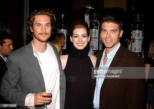 Oliver Hudson Anne Hathaway and Anson Mount during Anne Hathaway Oliver Hudson and Anson Mount Host Fundraiser for Defense for Children International...