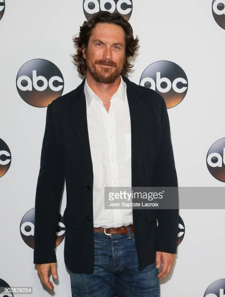 Oliver Hudson attends the Disney ABC Television Group Hosts TCA Winter Press Tour 2018 on January 8 2018 in Pasadena California