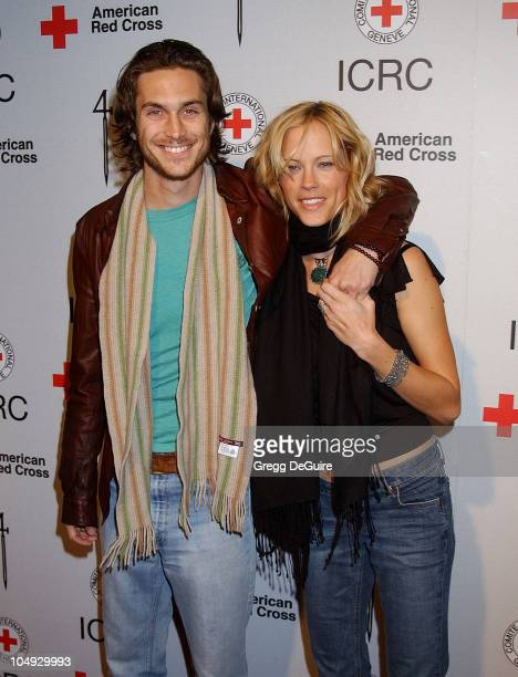 Oliver Hudson Erinn Bartlett during Michel Comte's Benefit and Auction for People and Places With No Name Arrivals at Ace Gallery in Los Angeles...