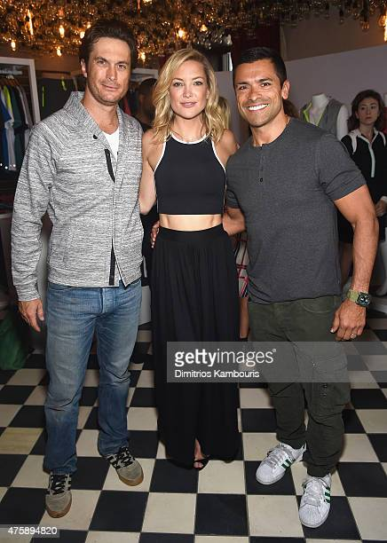Oliver Hudson Kate Hudson and Mark Consuelos attend the FL2 Launch on June 4 2015 in New York City