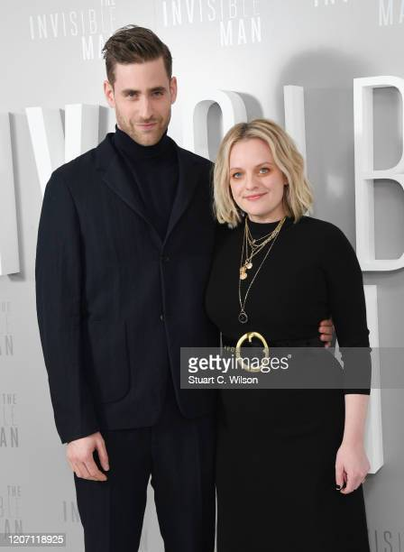 Oliver Jackson Cohen and Elizabeth Moss attend the The Invisible Man Photocall at Soho Hotel on February 18 2020 in London England