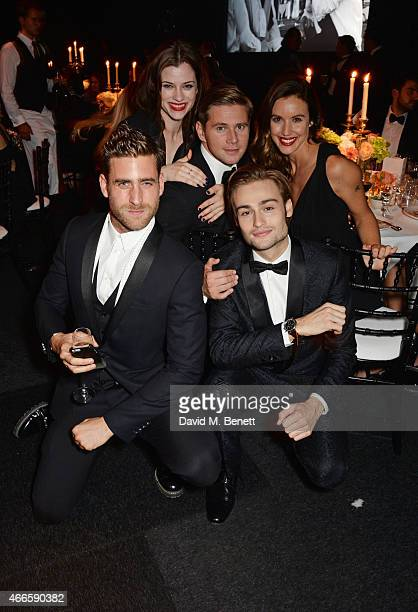Oliver Jackson Cohen Jessica de Gouw Allen Leech Douglas Booth and Charlie Webster attend the BFI London Film Festival IWC Gala Dinner in honour of...