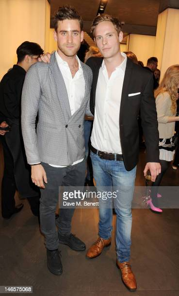 Oliver JacksonCohen and Jack Fox attend as EA7 Emporio Armani Summer Garden Live presents Summer of Sport at Emporio Armani on June 19 2012 in London...