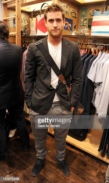Oliver JacksonCohen attends the opening of Jack Spade's first UK store on March 29 2012 in London England