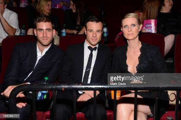 Oliver JacksonCohen Rupert Evans and Cynthia Nixon attend the screening of 'World Without End' presented by ReelzChannel at The Grove on October 2...