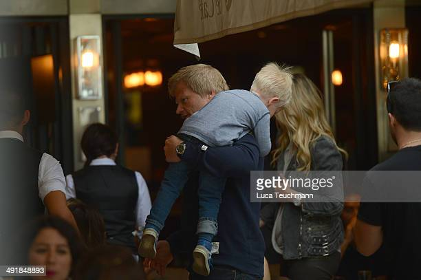 Oliver Kahn and his wife Svenja and son are seen on day 4 of the 67th Annual Cannes Film Festival on May 17 2014 in Cannes France