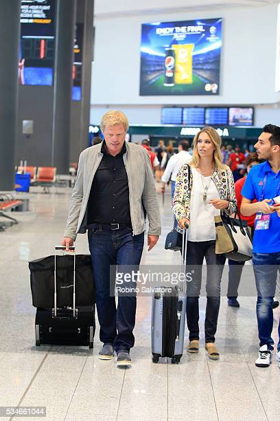 Oliver Kahn and Svenja Kahn are seen on May 27 2016 in Milan Italy