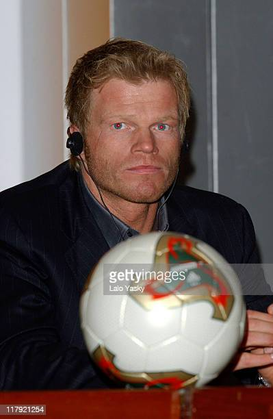 Oliver Kahn Attends a Press Conference Before the FIFA World Player Gala 2002 at the Palacio de Congresos in Madrid