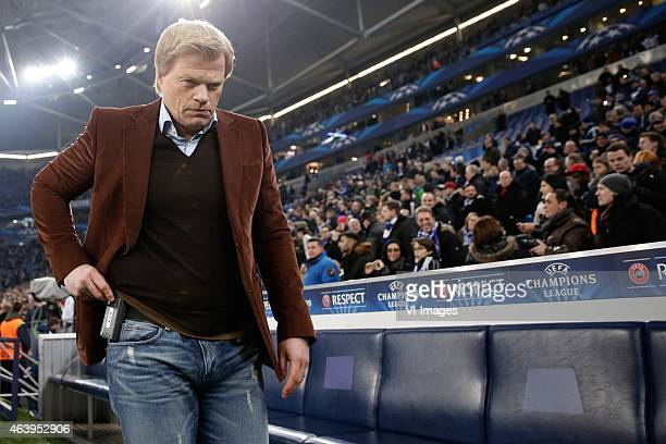 Oliver Kahn during the round of 16 UEFA Champions League match between Schalke 04 and Real Madrid on February 18 2015 at the Veltins Arena in...