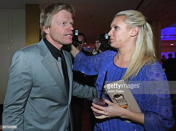 Oliver Kahn is seen with Magdalena Brzeska prior to the Herbert Award 2009 Gala at the Elysee Hotel on March 30 2009 in Hamburg Germany