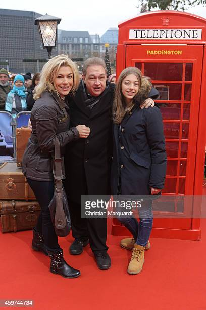Oliver Kalkhofe his wife Connie and daughter attend the German premiere of the film 'Paddington' at Zoo Palast on November 30 2014 in Berlin Germany