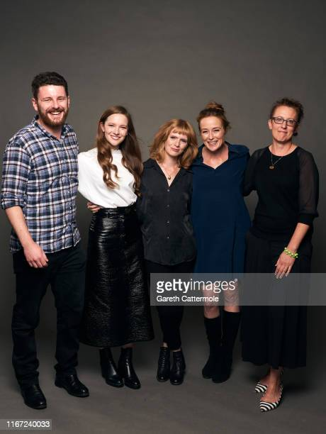 Oliver Kassman, actor Morfydd Clark, Director/writer Rose Glass, actor Jennifer Ehle, and Andrea Cornwell from the film 'Saint Maud' pose for a...