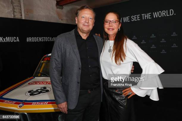 Oliver Kastalio CEO Rodenstock and Doreen Dietel attend the Rodenstock Exhibition Opening Event at Museum of Urban and Contemporary Art in Munich on...