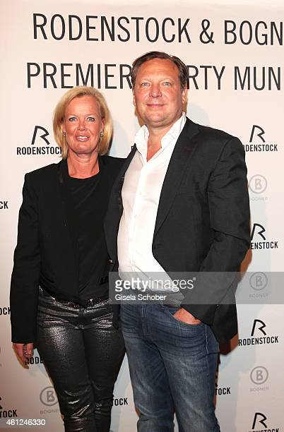 Oliver Kastalio CEO Rodenstock and his wife Kirsten during the Rodenstock Bogner premiere party at P1 on January 9 2015 in Munich Germany