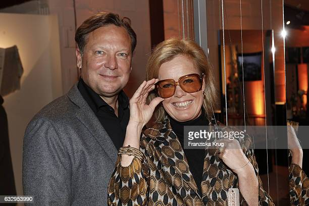 Oliver Kastalio CEO Rodenstock and his wife Kirsten Kastalio attend the Rodenstock Exhibition Opening Event at Museum of Urban and Contemporary Art...