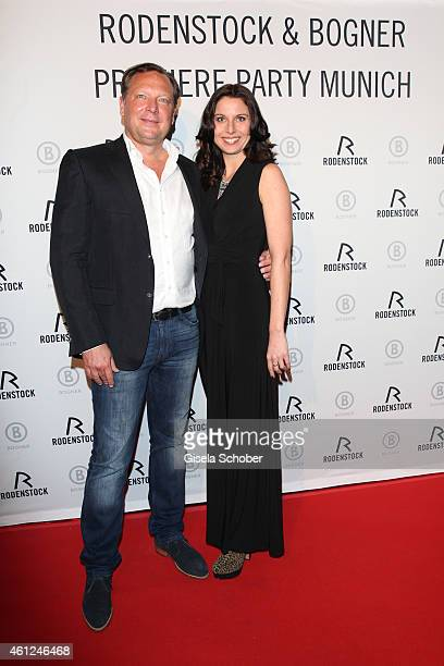 Oliver Kastalio CEO Rodenstock and Natascha Zillner during the Rodenstock Bogner premiere party at P1 on January 9 2015 in Munich Germany