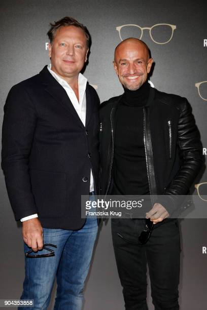 Oliver Kastalio CEO Rodenstock and Peyman Amin during the Rodenstock Eyewear Show on January 12 2018 in Munich Germany