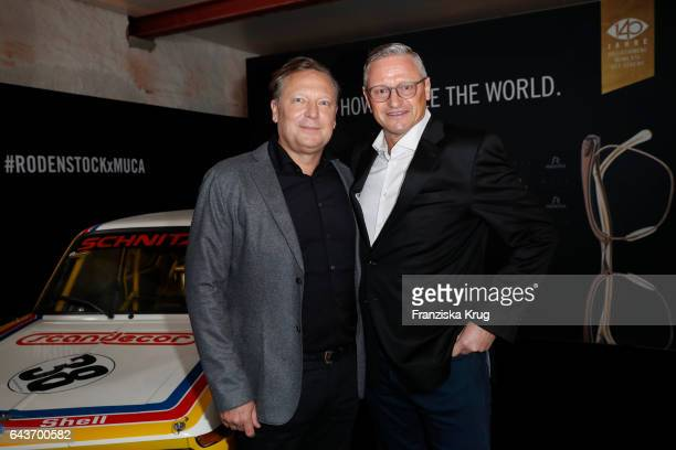 Oliver Kastalio CEO Rodenstock and Stefan Bloecher attend the Rodenstock Exhibition Opening Event at Museum of Urban and Contemporary Art in Munich...