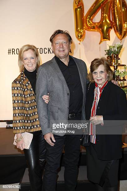 Oliver Kastalio CEO Rodenstock his wife Kirsten Kastalio Gundl Fuchsberger attend the Rodenstock Exhibition Opening Event at Museum of Urban and...