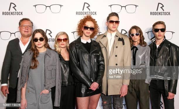 Oliver Kastalio, Lucia Strunz, Luna Schweiger, Anna Ermakova, Tyger Lobinger, Mia Wehrmann and Nathan Wehrmann during the Rodenstock Eyewear Show 'A...