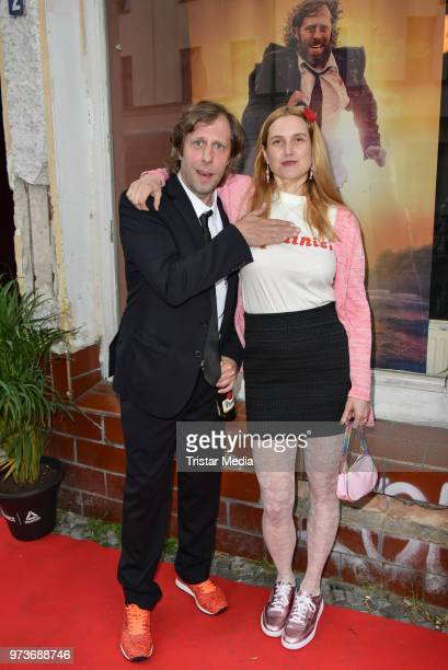 Oliver Korittke and Mirijam Verena Jeremic attend the film preview of 'Der Sportpenner' on June 13 2018 in Berlin Germany