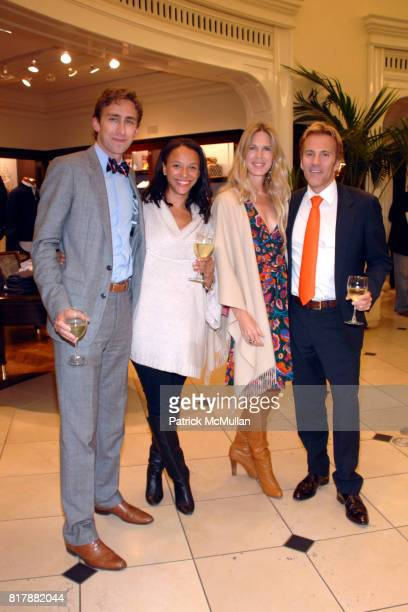 Oliver Kramer Alisha Holmes Shell Cardon and Craig Cardon attend Brooks Brothers Beverly Hills launches True Prep at Brooks Brothers on September 23...