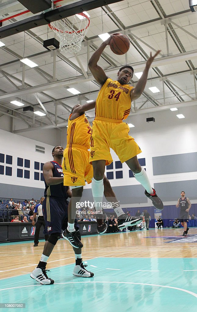 Oliver Lafayette #24 of the Fort Wayne Mad Ants rebounds the ball against the Bakersfield Jam during the 2011 NBA D-League Showcase on January 12, 2011 at the South Padre Island Convention Center in South Padre Island, Texas.